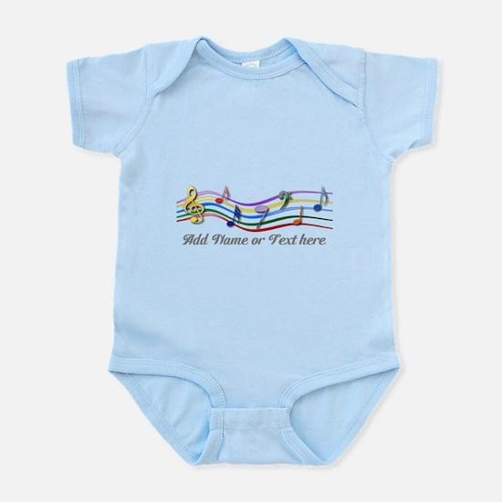 Personalized Rainbow Musical Infant Bodysuit