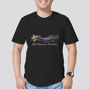 Personalized Rainbow Musical Men's Fitted T-Shirt