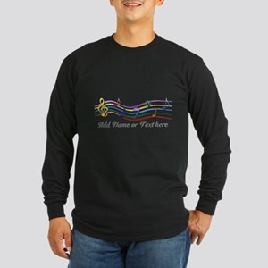 Personalized Rainbow Musical Long Sleeve Dark T-Sh