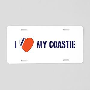 Love my Coastie Aluminum License Plate