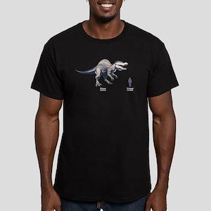 Diner v. Dinner Men's Fitted T-Shirt (dark)