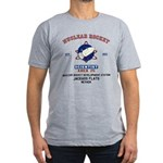 NUCLEAR ROCKET SCIENTIST Men's Fitted T-Shirt (dar