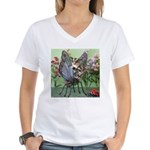Butterfly #2 Women's V-Neck T-Shirt
