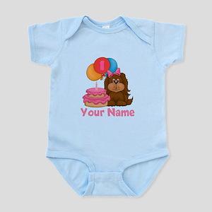 1st Birthday Puppy Girl Infant Bodysuit