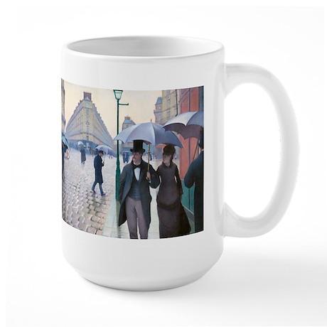 Caillebotte - Paris St Large Mug