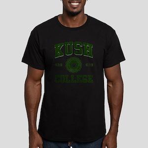 KUSH COLLEGE Men's Fitted T-Shirt (dark)