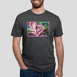 Flamingo, colorful, fun, art! Mens Tri-blend T-Shi