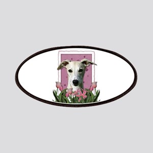 Mothers Day Pink Tulips Whippet Patches