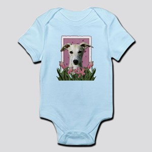 Mothers Day Pink Tulips Whippet Infant Bodysuit