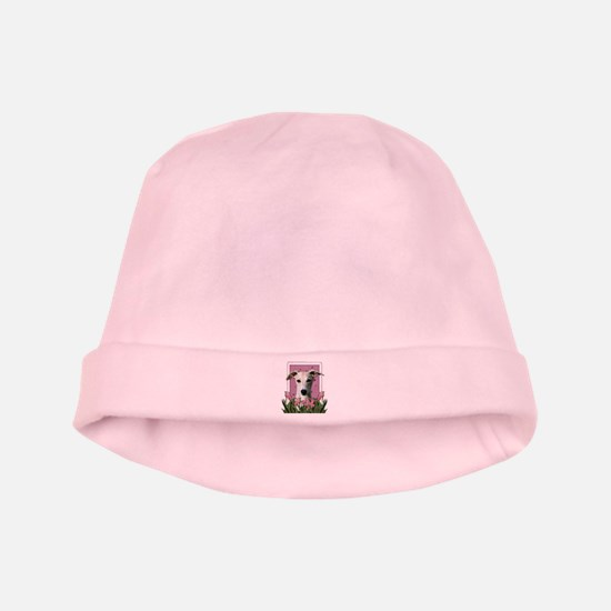 Mothers Day Pink Tulips Whippet baby hat