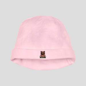 Mothers Day Pink Tulips Vallhund baby hat