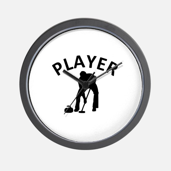 Curling Player Wall Clock