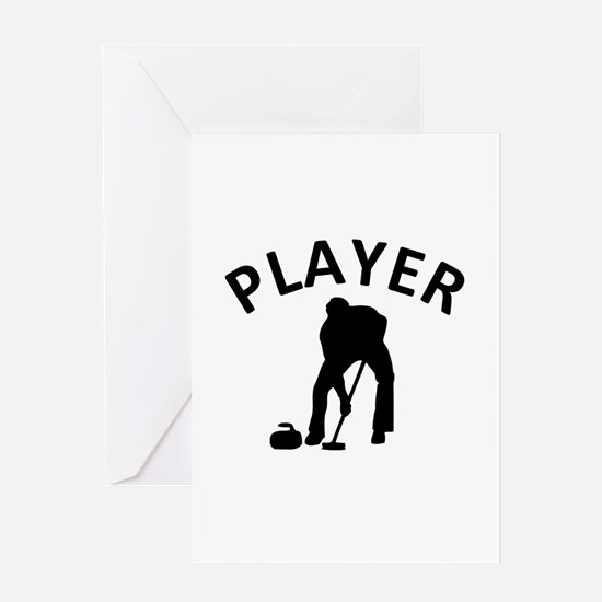 Curling Player Greeting Card