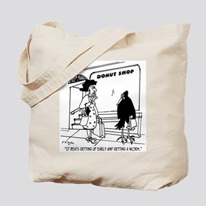 Donuts Beat Early Worms Tote Bag