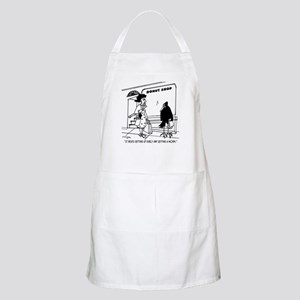 Donuts Beat Early Worms Apron
