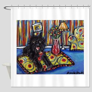 Portrait of a Griff Shower Curtain