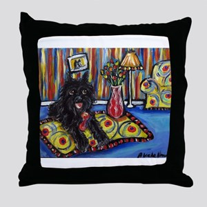 Portrait of a Griff Throw Pillow