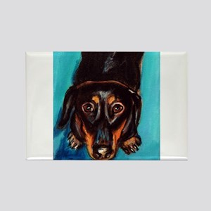 Portrait of a dachshund Rectangle Magnet