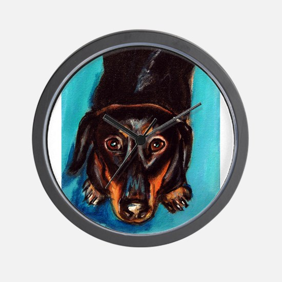 Portrait of a dachshund Wall Clock