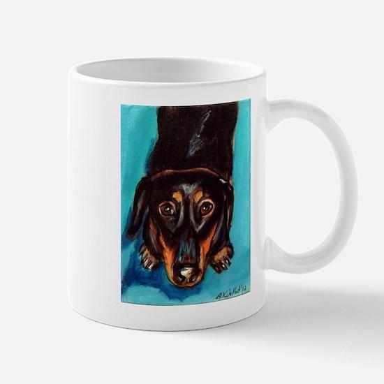 Portrait of a dachshund Mug