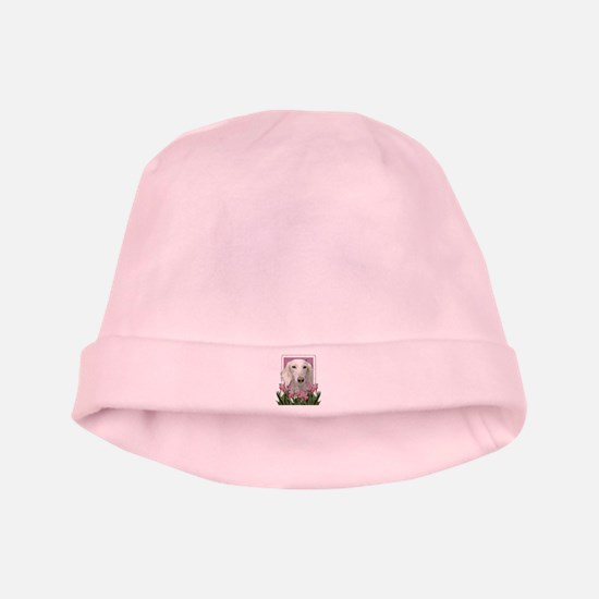 Mothers Day Pink Tulips Saluki baby hat