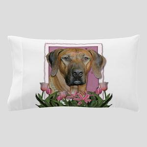Mothers Day Pink Tulips Ridgeback Pillow Case
