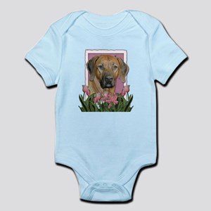 Mothers Day Pink Tulips Ridgeback Infant Bodysuit
