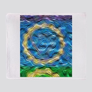 Heavenly Blue Throw Blanket