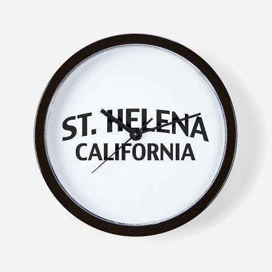 St. Helena California Wall Clock