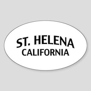 St. Helena California Sticker (Oval)