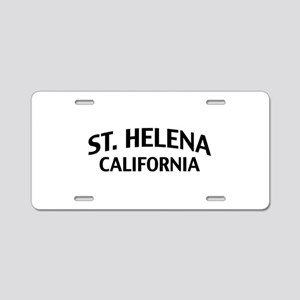 St. Helena California Aluminum License Plate