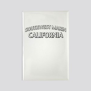 Southwest Marin California Rectangle Magnet