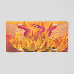 """""""Fall in Fire"""" Phoenix Aluminum License Plate"""