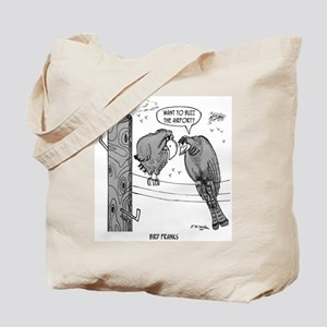 Birds Buzz The Airport Tote Bag