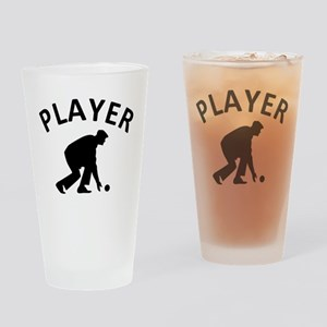 Lawn Bowling Player Drinking Glass