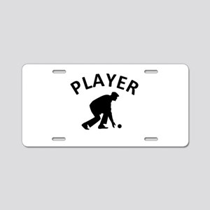 Lawn Bowling Player Aluminum License Plate
