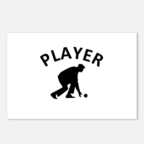 Lawn Bowling Player Postcards (Package of 8)
