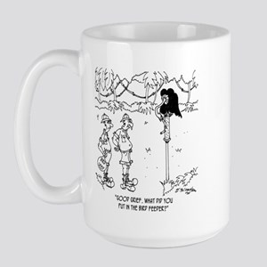 What's in The Bird Feeder? Large Mug