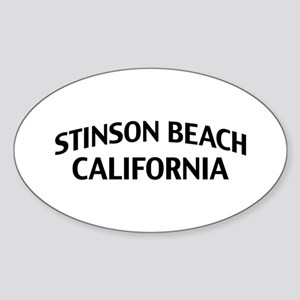 Stinson Beach California Sticker (Oval)