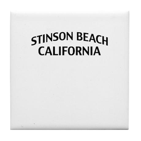 Stinson Beach California Tile Coaster