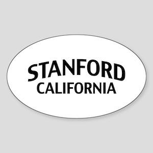 Stanford California Sticker (Oval)