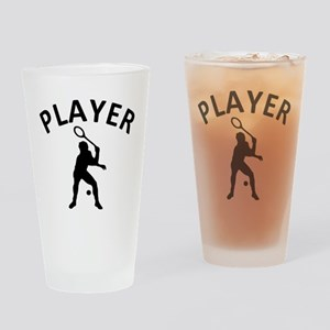 Squash Player Drinking Glass