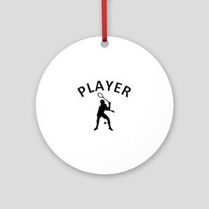 Squash Player Ornament (Round)
