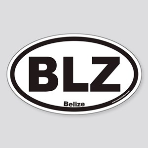 Belize BLZ Euro Oval Sticker