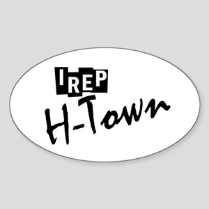 I rep H-town Sticker (Oval)