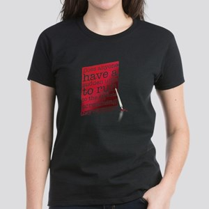 Does anyone... (red) Women's Dark T-Shirt