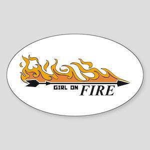 Arrow The Girl Who Was On Fir Sticker (Oval)
