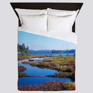 mountain river scene Queen Duvet