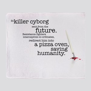 Killer cyborg... Throw Blanket