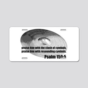 Psalm 150:5 - Christian Drumm Aluminum License Pla